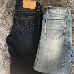 True Religion & Epic Jeans boys size 7 like new